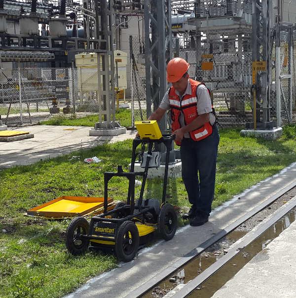 Georadar en lineas eléctricas