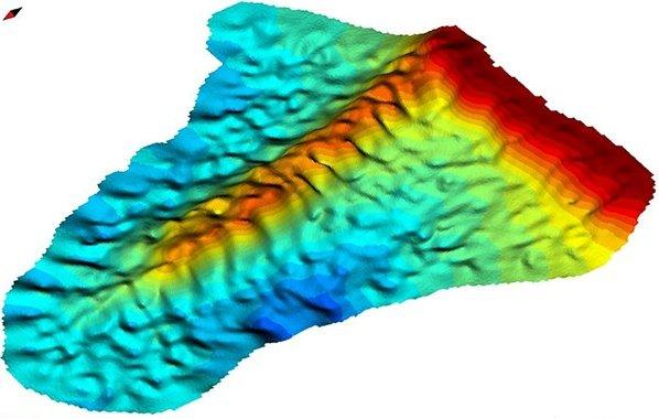 Mapa 3D de plataforma submarina